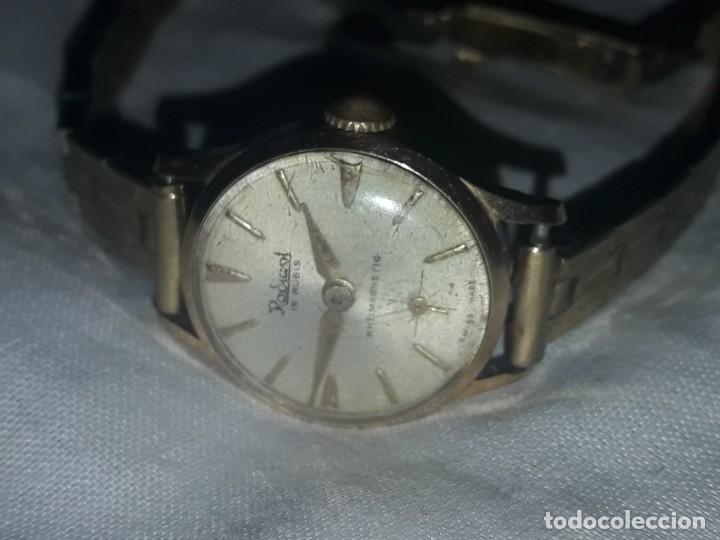 Relojes de pulsera: Antiguo reloj manual de señora Radiant 15 rubis años 50/60 baño oro plaque G-10 micas antimagnetic - Foto 12 - 216591770