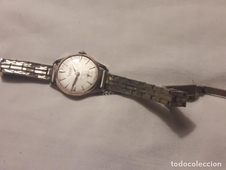 Relojes de pulsera: Antiguo reloj manual de señora Radiant 15 rubis años 50/60 baño oro plaque G-10 micas antimagnetic - Foto 18 - 216591770