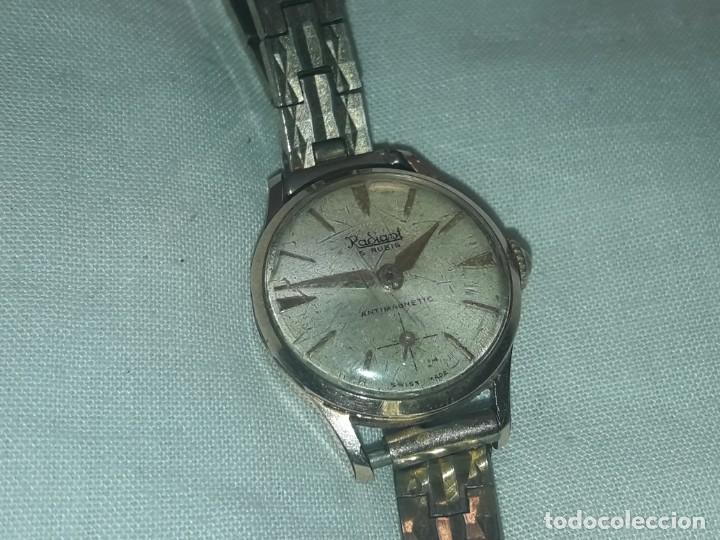 Relojes de pulsera: Antiguo reloj manual de señora Radiant 15 rubis años 50/60 baño oro plaque G-10 micas antimagnetic - Foto 19 - 216591770