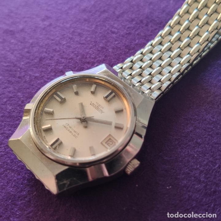 Relojes de pulsera: ANTIGUO RELOJ DE PULSERA VANROY. 17 RUBIS. SWISS. CARGA MANUAL-CUERDA. AÑOS 60. CABALLERO - Foto 2 - 216842272