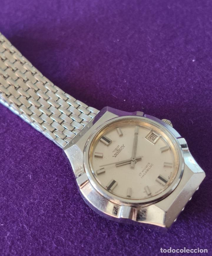 Relojes de pulsera: ANTIGUO RELOJ DE PULSERA VANROY. 17 RUBIS. SWISS. CARGA MANUAL-CUERDA. AÑOS 60. CABALLERO - Foto 3 - 216842272