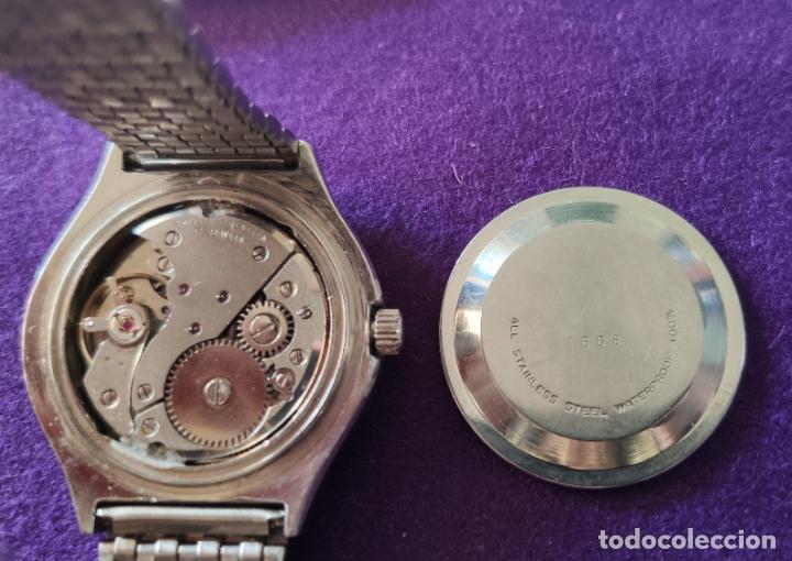 Relojes de pulsera: ANTIGUO RELOJ DE PULSERA VANROY. 17 RUBIS. SWISS. CARGA MANUAL-CUERDA. AÑOS 60. CABALLERO - Foto 4 - 216842272