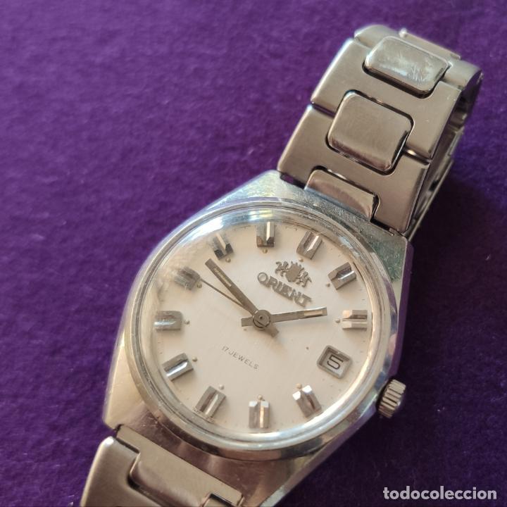 Relojes de pulsera: ANTIGUO RELOJ DE PULSERA ORIENT. 17 RUBIS. JAPAN. CARGA MANUAL-CUERDA. AÑOS 60. CABALLERO - Foto 2 - 216842397