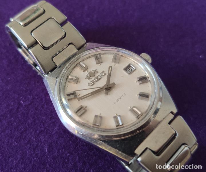 Relojes de pulsera: ANTIGUO RELOJ DE PULSERA ORIENT. 17 RUBIS. JAPAN. CARGA MANUAL-CUERDA. AÑOS 60. CABALLERO - Foto 3 - 216842397