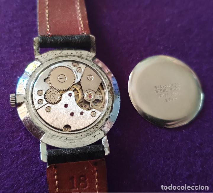 Relojes de pulsera: ANTIGUO RELOJ DE PULSERA MIRANDI. 17 RUBIS. SWISS. CARGA MANUAL-CUERDA. AÑOS 60. CABALLERO - Foto 4 - 216842447
