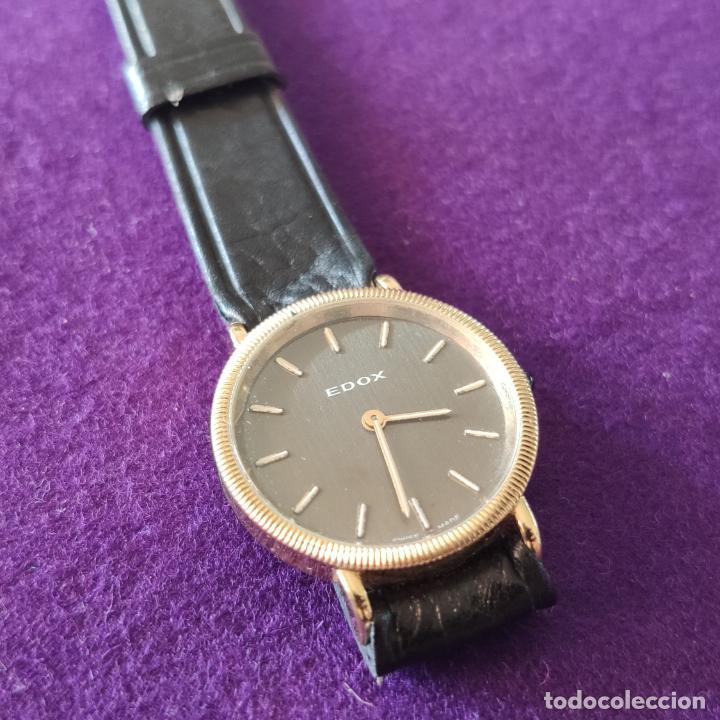 Relojes de pulsera: ANTIGUO RELOJ DE PULSERA EDOX. SWISS. 17 RUBIS. CARGA MANUAL-CUERDA. AÑOS 60. - Foto 2 - 216842915