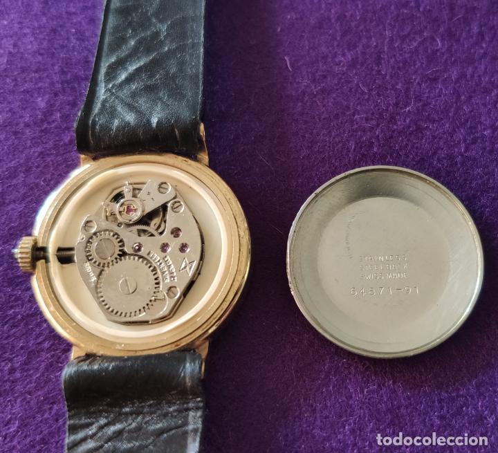 Relojes de pulsera: ANTIGUO RELOJ DE PULSERA EDOX. SWISS. 17 RUBIS. CARGA MANUAL-CUERDA. AÑOS 60. - Foto 3 - 216842915