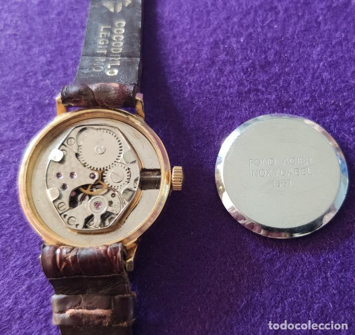 Relojes de pulsera: ANTIGUO RELOJ DE PULSERA HORIZONTE. 17 RUBIS. CARGA MANUAL-CUERDA. AÑOS 60. SEÑORA. - Foto 4 - 216842987