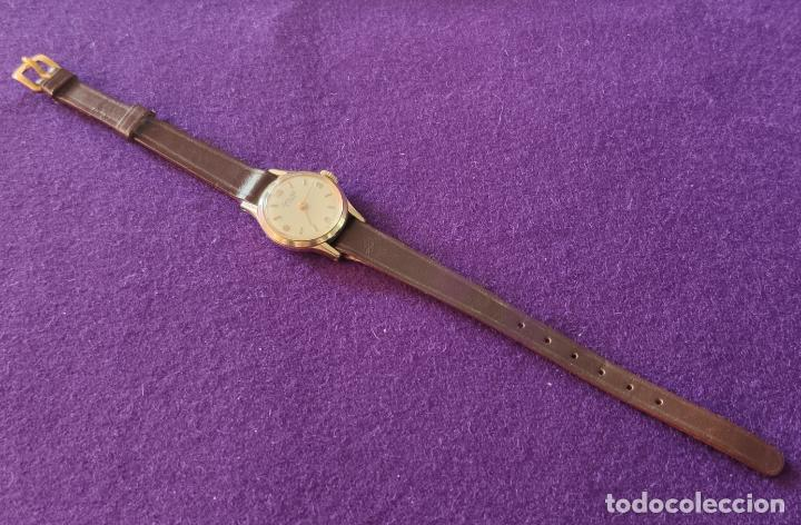 Relojes de pulsera: ANTIGUO RELOJ DE PULSERA EXACTUS. SWISS. 15 RUBIS. CARGA MANUAL-CUERDA. AÑOS 60. SEÑORA. - Foto 2 - 216843111