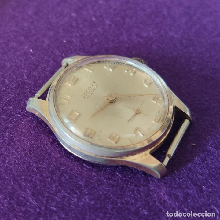 Relojes de pulsera: ANTIGUO RELOJ DE PULSERA SECORY. SWISS. CARGA MANUAL-CUERDA. NECESITA AJUSTE Y LIMPIEZA. AÑOS 60. - Foto 3 - 216844147