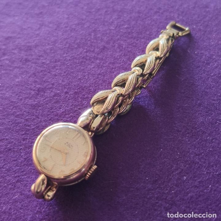Relojes de pulsera: ANTIGUO RELOJ DE PULSERA A.G.M. SWISS. CARGA MANUAL-CUERDA. NECESITA AJUSTE Y LIMPIEZA. AÑOS 50. - Foto 2 - 216844778