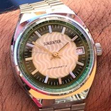 Relojes de pulsera: RELOJ CARGA MANUAL SORIENTER CALENDARIO DUSTPROOF CABALLEROS. Lote 217071270