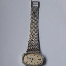 Relojes de pulsera: RELOJ PLATA 0,925 FUNCIONANDO MARCA HURISA ( CONTRASTE RELOJ Y PULSERA ). Lote 217727363