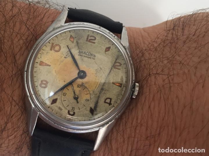 RELOJ ANTIGUO DRACONIS CARGA MANUAL GRAN TAMAÑO (Relojes - Pulsera Carga Manual)