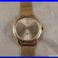 Relojes de pulsera: RELOJ ZENITH DE ORO CON CADENA DE ORO. FUNCIONA CORRECTAMENTE. Lote 218101380
