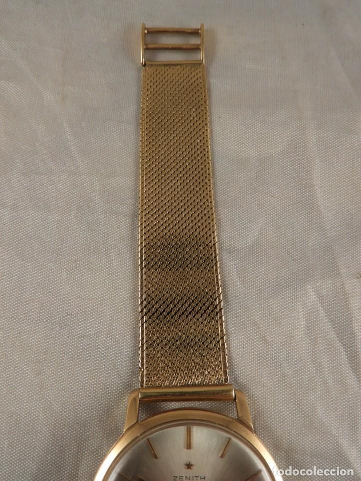 Relojes de pulsera: RELOJ ZENITH DE ORO CON CADENA DE ORO. FUNCIONA CORRECTAMENTE - Foto 3 - 218101380