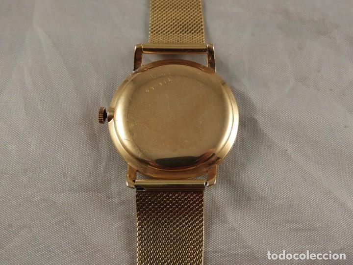 Relojes de pulsera: RELOJ ZENITH DE ORO CON CADENA DE ORO. FUNCIONA CORRECTAMENTE - Foto 5 - 218101380