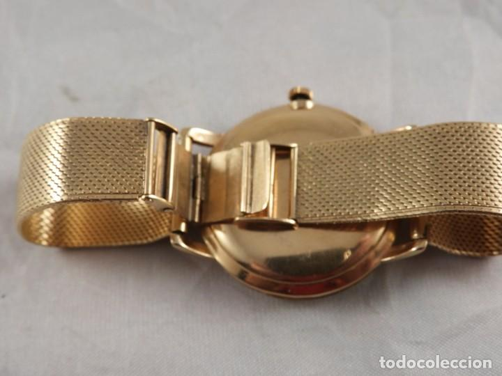 Relojes de pulsera: RELOJ ZENITH DE ORO CON CADENA DE ORO. FUNCIONA CORRECTAMENTE - Foto 9 - 218101380