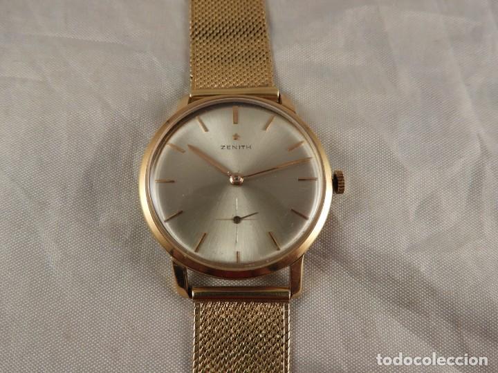 Relojes de pulsera: RELOJ ZENITH DE ORO CON CADENA DE ORO. FUNCIONA CORRECTAMENTE - Foto 10 - 218101380
