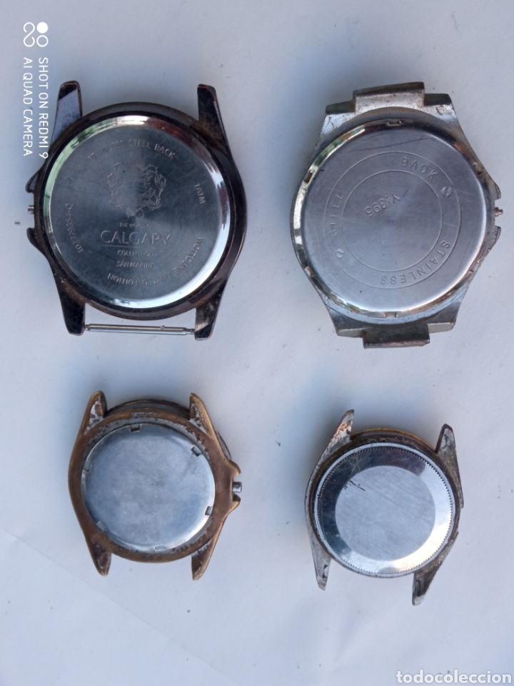 Relojes de pulsera: Lote 4 relojes antiguos. - Foto 2 - 218329335
