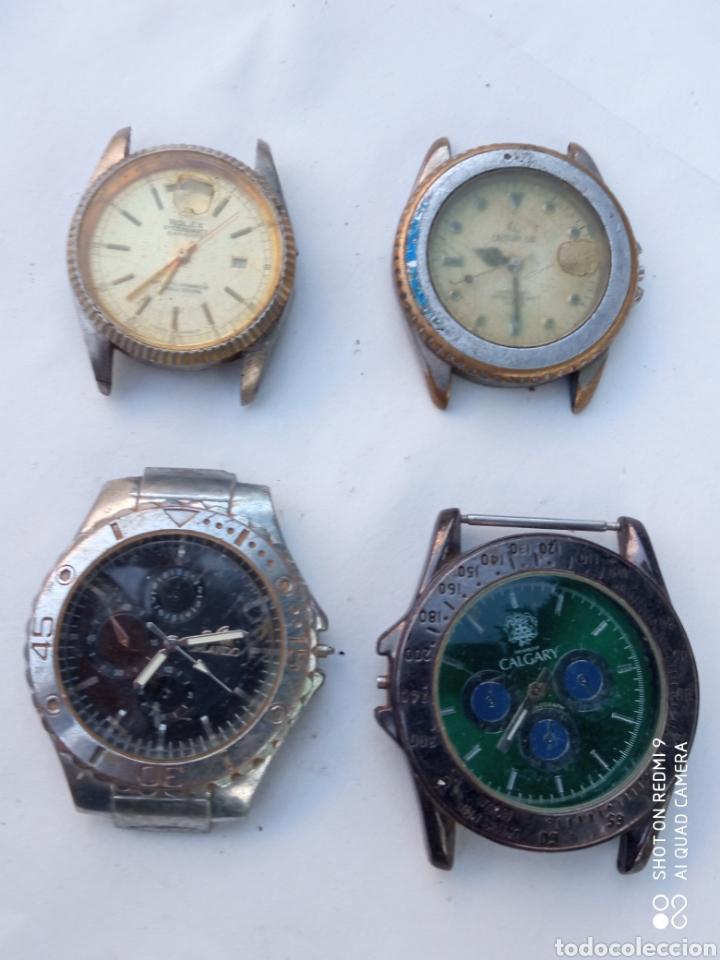 LOTE 4 RELOJES ANTIGUOS. (Relojes - Pulsera Carga Manual)