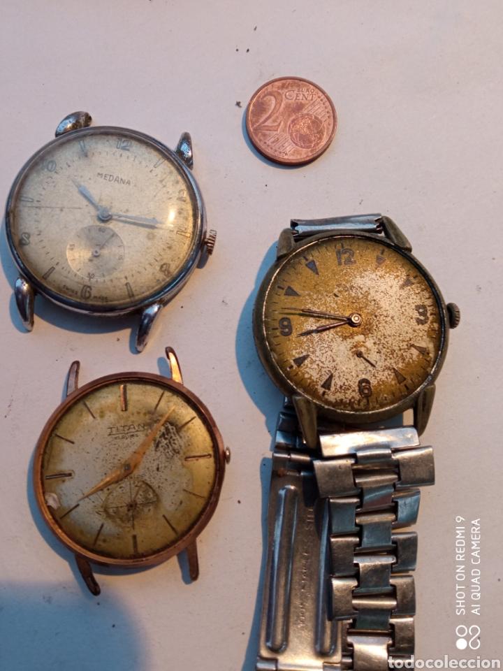 LOTE TRES RELOJES ANTIGUOS. (Relojes - Pulsera Carga Manual)