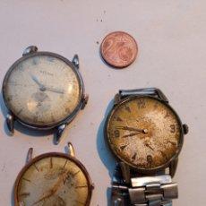 Relojes de pulsera: LOTE TRES RELOJES ANTIGUOS.. Lote 262471105
