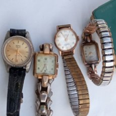 Relojes de pulsera: LOTE 4 RELOJES ANTIGUOS MUJER.. Lote 218435843