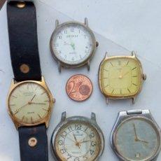Relojes de pulsera: LOTE 5 RELOJES ANTIGUOS.. Lote 218537318
