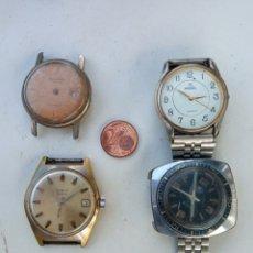 Relojes de pulsera: LOTE 4 RELOJES ANTIGUOS.. Lote 218538296