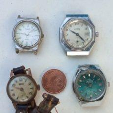 Relojes de pulsera: 4 RELOJES ANTIGUOS SEÑORA.. Lote 218538652