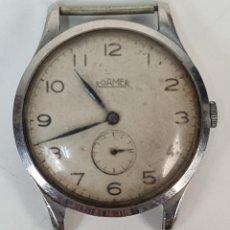 Relojes de pulsera: RELOJ DE PULSERA ROAMER. CAJA DE ACERO INOXIDABLE. 15 JEWELS. SUIZA. CIRCA 1950.. Lote 218581840