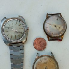 Relojes de pulsera: LOTE TRES RELOJES ANTIGUOS.. Lote 218740362