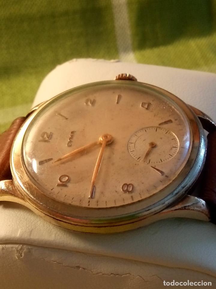 Relojes de pulsera: RELOJ CYMA - AÑOS 50. MANUAL A CUERDA. FUNCIONANDO. P.ORO 20 MICRAS. DESCRIPCION Y FOTOS. - Foto 7 - 218868882