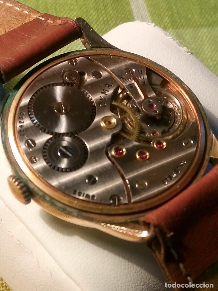 Relojes de pulsera: RELOJ CYMA - AÑOS 50. MANUAL A CUERDA. FUNCIONANDO. P.ORO 20 MICRAS. DESCRIPCION Y FOTOS. - Foto 8 - 218868882