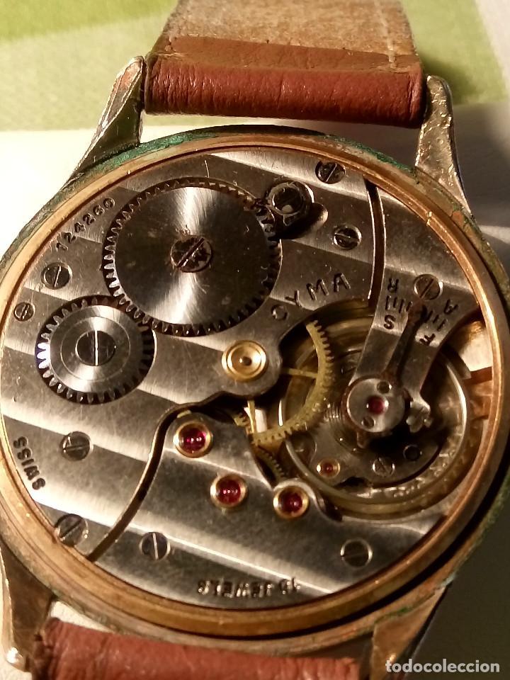 Relojes de pulsera: RELOJ CYMA - AÑOS 50. MANUAL A CUERDA. FUNCIONANDO. P.ORO 20 MICRAS. DESCRIPCION Y FOTOS. - Foto 9 - 218868882