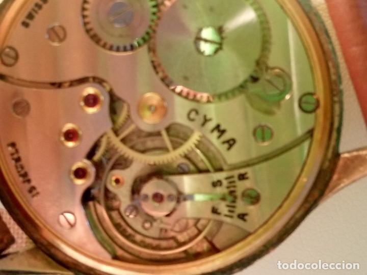 Relojes de pulsera: RELOJ CYMA - AÑOS 50. MANUAL A CUERDA. FUNCIONANDO. P.ORO 20 MICRAS. DESCRIPCION Y FOTOS. - Foto 10 - 218868882