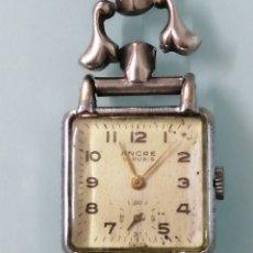 Relojes de pulsera: RELOJ DE PULSERA MARCA ANCRE.15 RUBIS. CADENA DE PLATA.CAJA ACERO.CUERDA CARGADA. 35 GRAMOS.. Lote 220228771