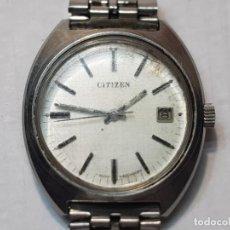 Relojes de pulsera: RELOJ CABALLERO CUERDA MANUAL CITIZEN 17 JEWELS FUNCIONANDO. Lote 220297828