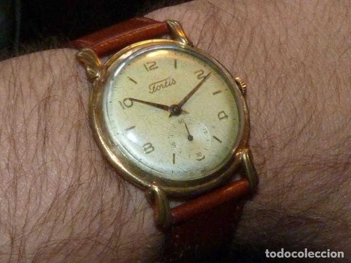 PRECIOSO RELOJ FORTIS INCABLOC CALIBRE FHF 27 SWISS MADE 17 RUBIS AÑOS 50 BONITA CAJA ART DECO RARO (Relojes - Pulsera Carga Manual)