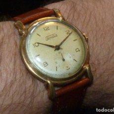 Relojes de pulsera: PRECIOSO RELOJ FORTIS INCABLOC CALIBRE FHF 27 SWISS MADE 17 RUBIS AÑOS 50 BONITA CAJA ART DECO RARO. Lote 220680027