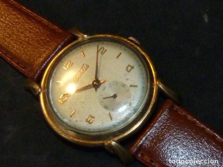 Relojes de pulsera: Precioso reloj Fortis incabloc calibre FHF 27 swiss made 17 rubis años 50 bonita caja art deco raro - Foto 2 - 220680027