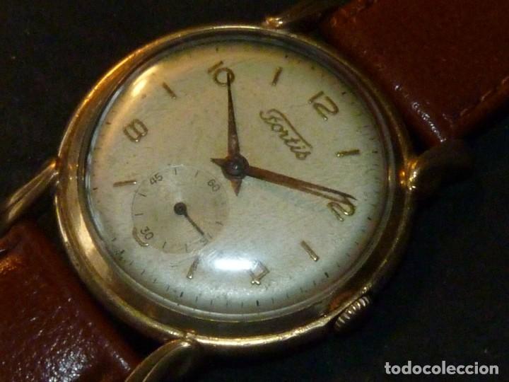 Relojes de pulsera: Precioso reloj Fortis incabloc calibre FHF 27 swiss made 17 rubis años 50 bonita caja art deco raro - Foto 3 - 220680027