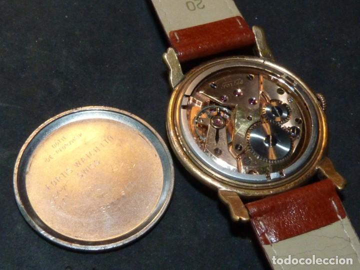 Relojes de pulsera: Precioso reloj Fortis incabloc calibre FHF 27 swiss made 17 rubis años 50 bonita caja art deco raro - Foto 5 - 220680027
