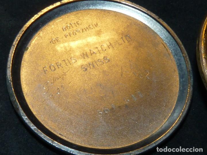 Relojes de pulsera: Precioso reloj Fortis incabloc calibre FHF 27 swiss made 17 rubis años 50 bonita caja art deco raro - Foto 6 - 220680027