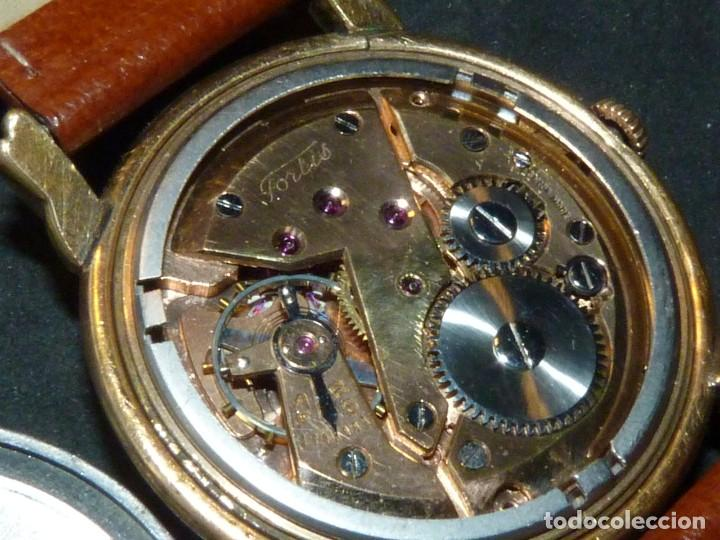 Relojes de pulsera: Precioso reloj Fortis incabloc calibre FHF 27 swiss made 17 rubis años 50 bonita caja art deco raro - Foto 7 - 220680027
