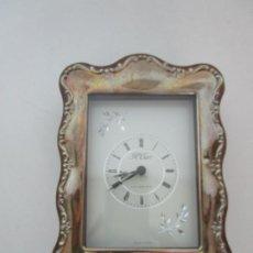 Relojes de pulsera: RELOJ DE SOBREMESA - PLATA DE LEY, CON CONTRASTES - MARCA R. CARR, CLOCKMARKER ENGLAND. Lote 220853922