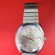 Relojes de pulsera: BONITO RELOJ CAUNY PRIMA CALENDARIO SUIZA 3,9 CM. Lote 221171906