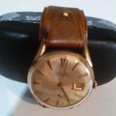 Relojes de pulsera: RELOJ CAUNY CENTENARIO CARGA MANUAL CALENDARIO A LAS TRES. Lote 221573362