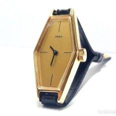 Relojes de pulsera: RELOJ VINTAGE DE SEÑORA MARCA INSA AÑOS 70 DE CARGA MANUAL Y NUEVO A ESTRENAR. Lote 221590495